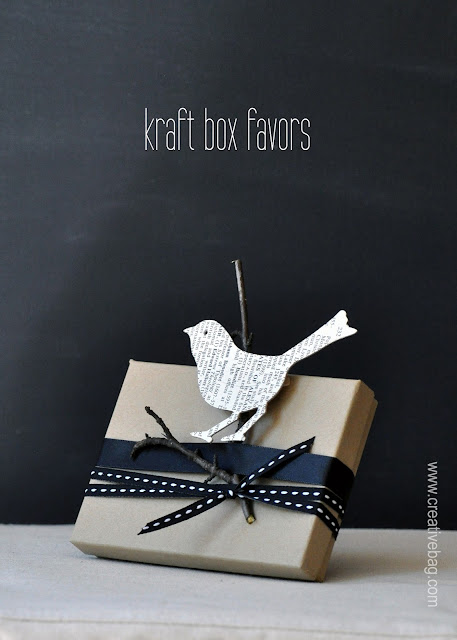 kraft boxes for favors from Creative Bag on the Creative Bag blog