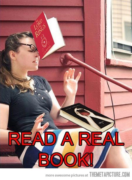 read a real book