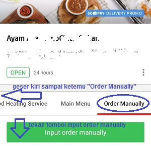 Cara pesan Go food manual, Cara pesan Go food secara manual, cara memesan go food manual