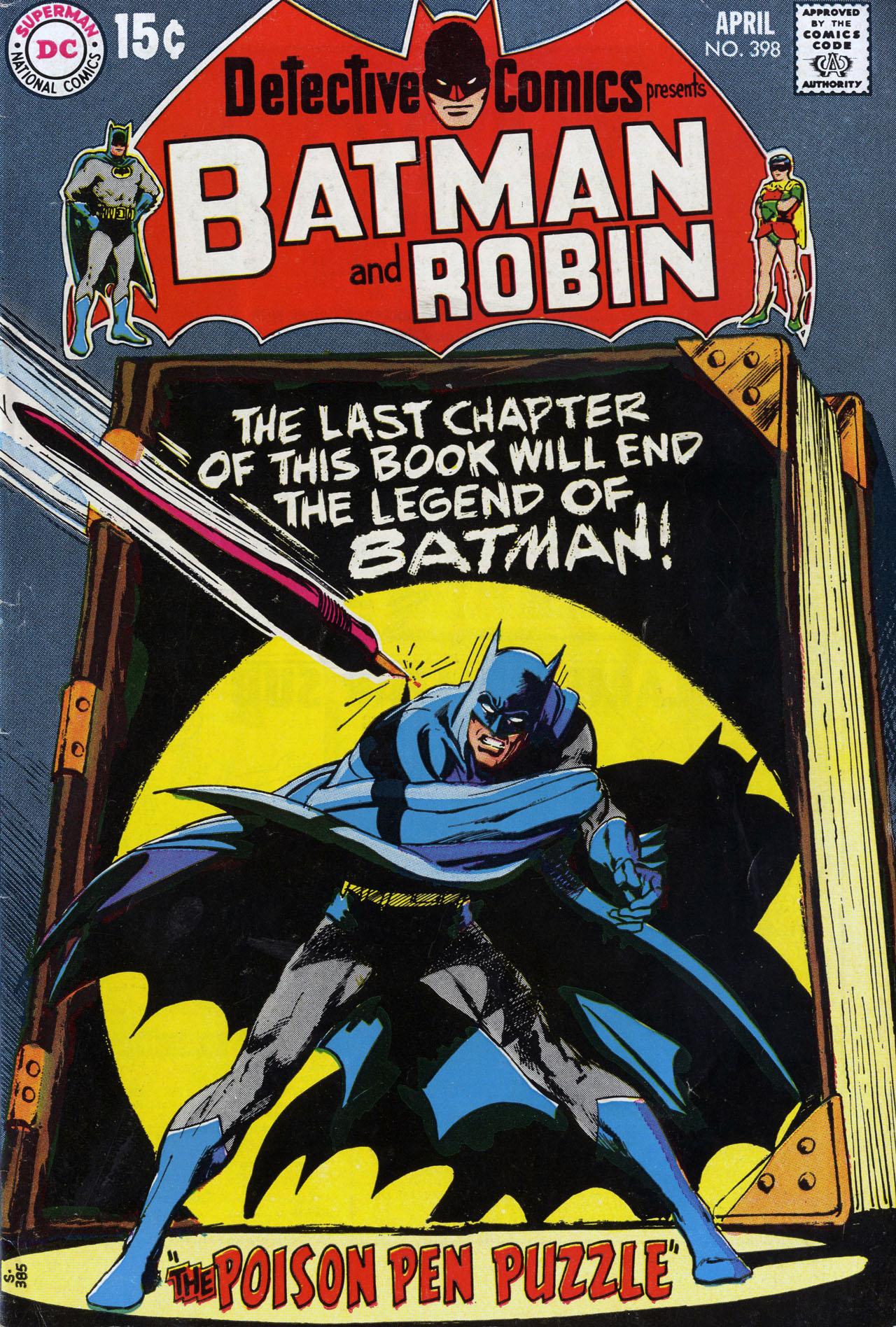 Detective Comics (1937) 398 Page 0