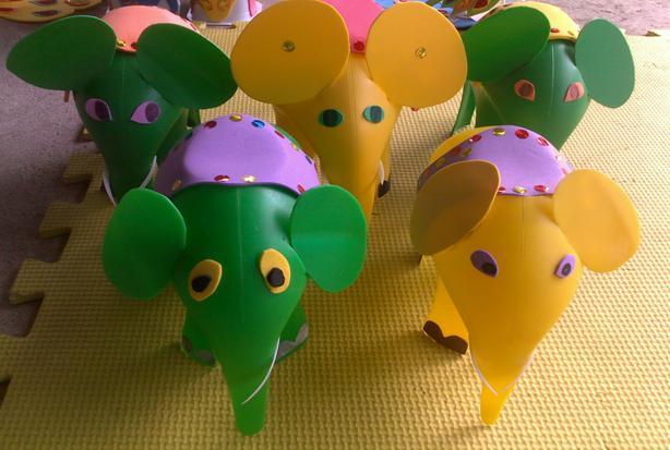 Đồ chơi tự làm trong trường mầm non - Đồ chơi tự làm Con voi đơn giản