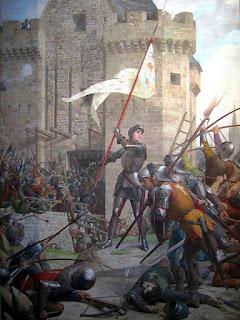 Jeanne d'Arc devant Orléans, fresque de Jules Eugène Lenepveu au Panthéon / source : Wikipedia