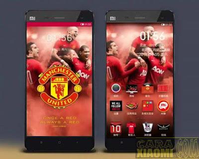Kumpulan Tema MIUI Football Themes Mtz For Xiaomi Manchester United