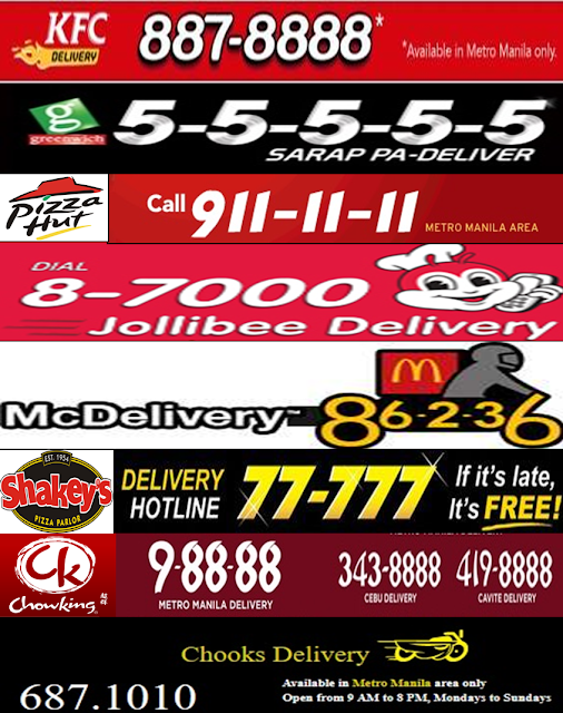 Food Delivery Hotline Philippines