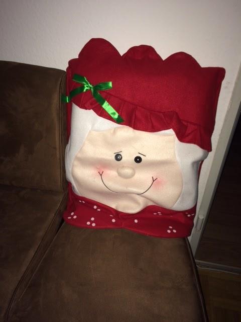 Weihnachtsdeko Stuhl.Mona S Blog Lihao Stuhlhussen Weihnachtsmann Und Frau Stuhlüberzug