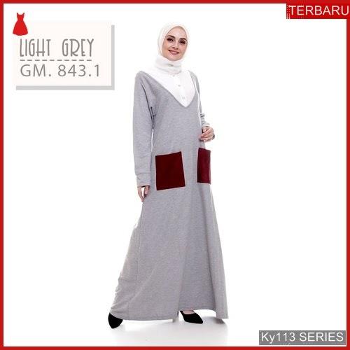 Ky113g72 Gamis Muslim Rsylla Murah Arzana Bmgshop Terbaru