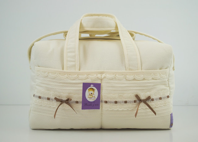 bolsa clinica lencera bebe beige camel