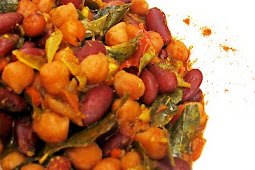Spicy Kidney Bean and Chickpea Stew