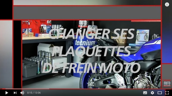 tuto vid o m canique moto changer ses plaquettes de frein doc jean no. Black Bedroom Furniture Sets. Home Design Ideas