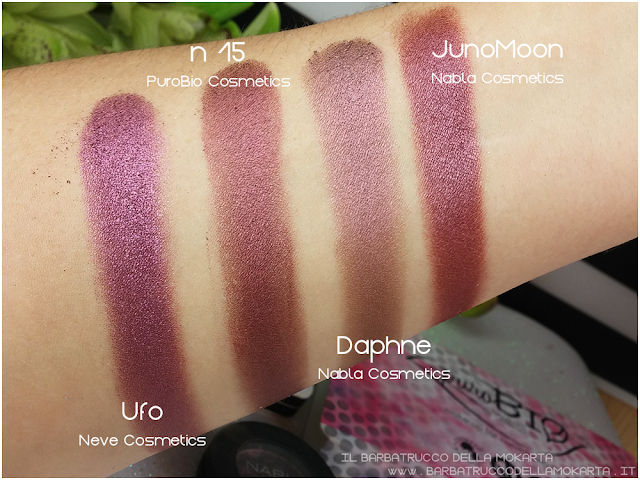 n 15 duochrome rosa antico tortora COMPARAZIONI ombretto eyeshadow Purobio Cosmetics