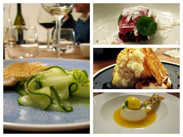 vários pratos gourmets servidos em super club