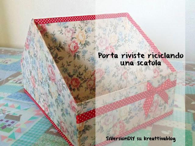 Come riciclare una scatola di cartone per realizzare un porta riviste