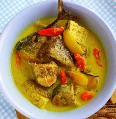 Gambar Resep Masakan Ikan Tenggiri Kuah Kuning Asli Gurih