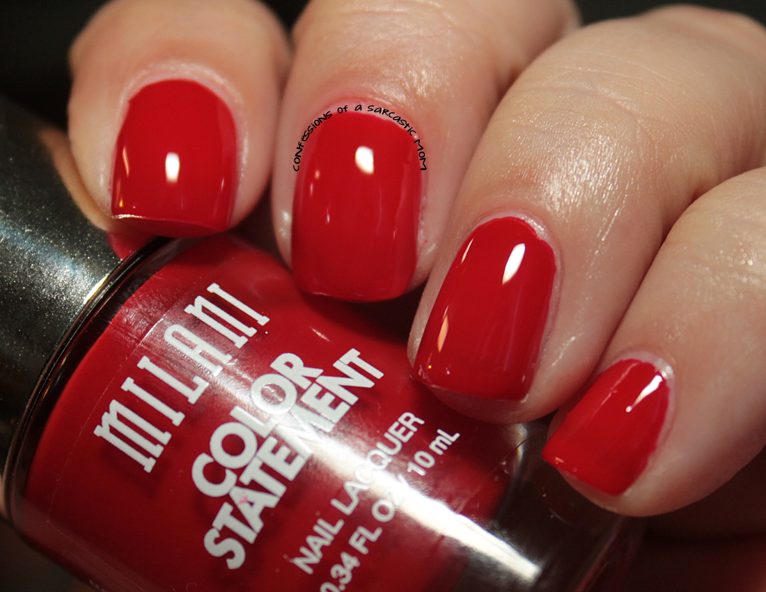 A splatter mani with Milani Color Statement Nail Lacquer ...