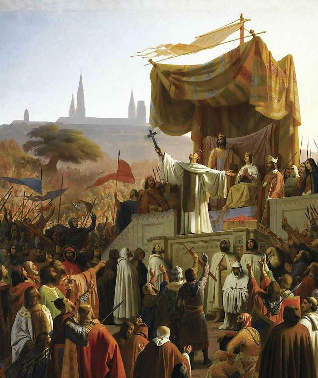 São Bernardo pregando a II Cruzada em Vezélay 31-03-1146. Emile Signol (1804-1892) , museu do castelo de Versailles.