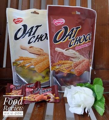 naraya oat choco halal atau tidak, review halal cemilan, naraya choco oat halal mui