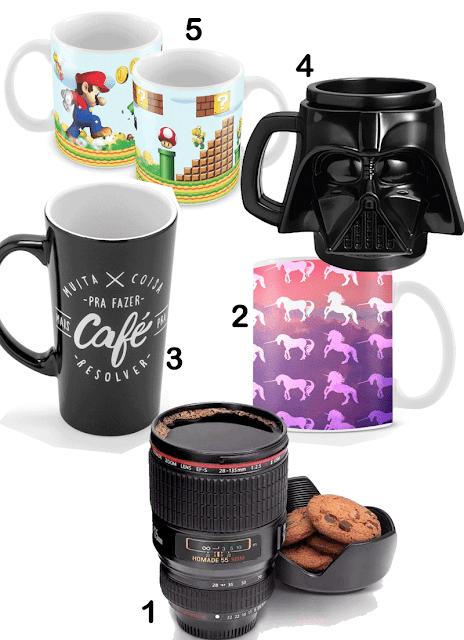 Canecas personalizada, Dark Vader, Lente, Unicórnio, Super Mário