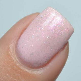 pale pink holo nail polish
