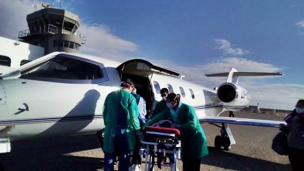 Trasladaron de urgencia en vuelo sanitario a un bebé de 2 años al Alto Valle