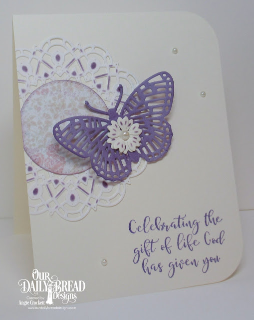ODBD Today and Everyday, ODBD Custom Fancy Fritillary Dies, ODBD Custom Bitty Blossoms Dies, ODBD Custom Doily Dies, ODBD Custom Pierced Circles Dies, ODBD Custom Rounded Rectangles Dies, ODBD Easter Card Collection 2016, Card Designer Angie Crockett