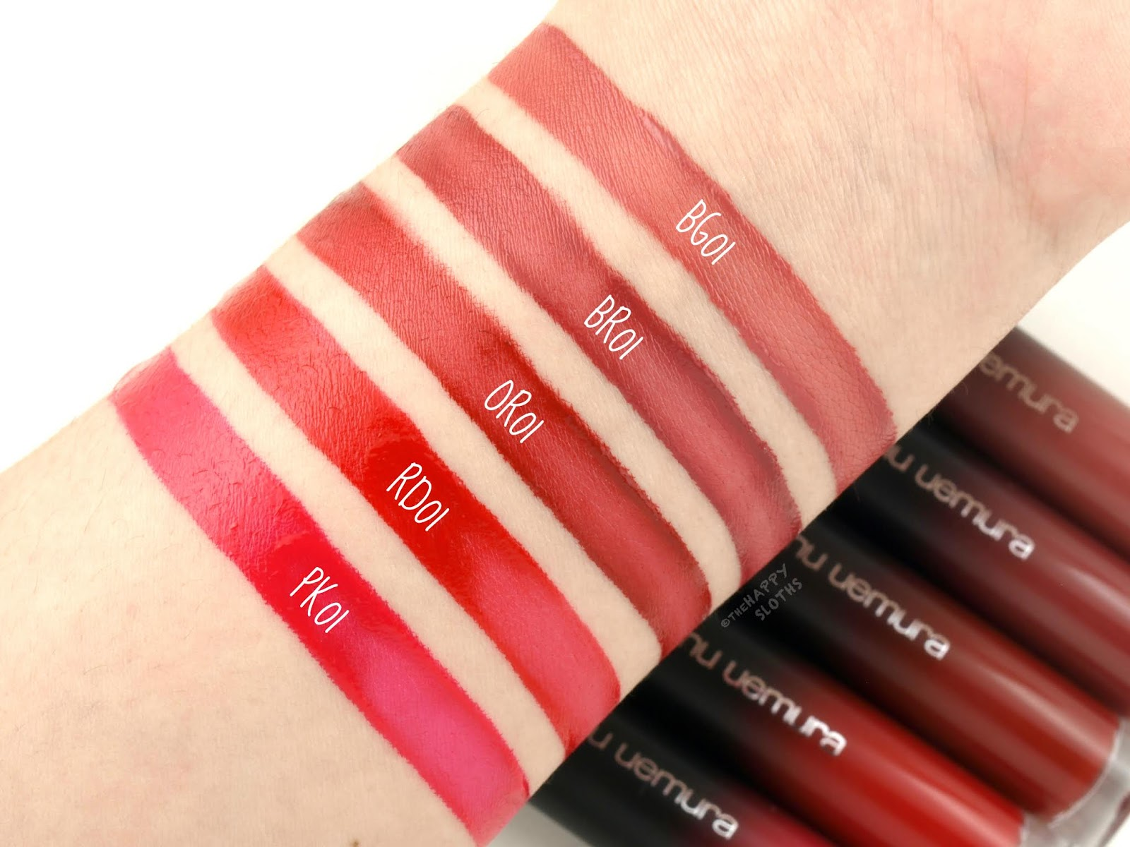 "Shu Uemura | Matte Supreme Lip Color in ""BG 01"", ""BR 01"", ""OR 01"", RD 01"" & ""PK 01"": Review and Swatches"