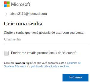 Senha para Hotmail