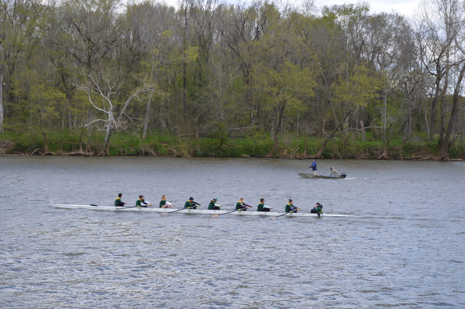 on saturday april 9th we made the trip to james river high school west of richmond for our second regatta of the season again we were met with breezy