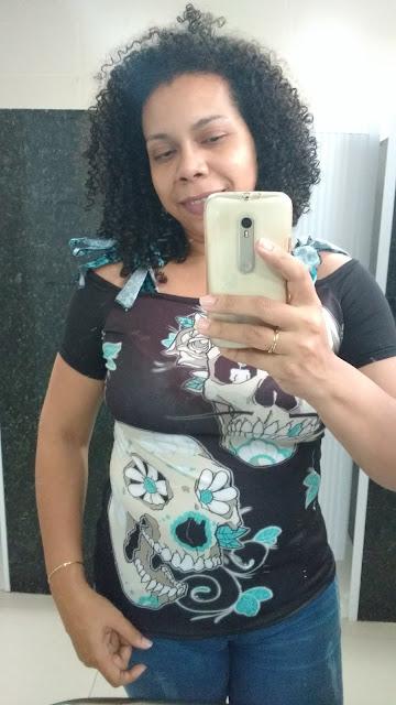 Recebidos Loja Dresslily blusa de caveira, blusa preta