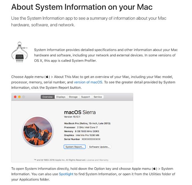 Mac System Information