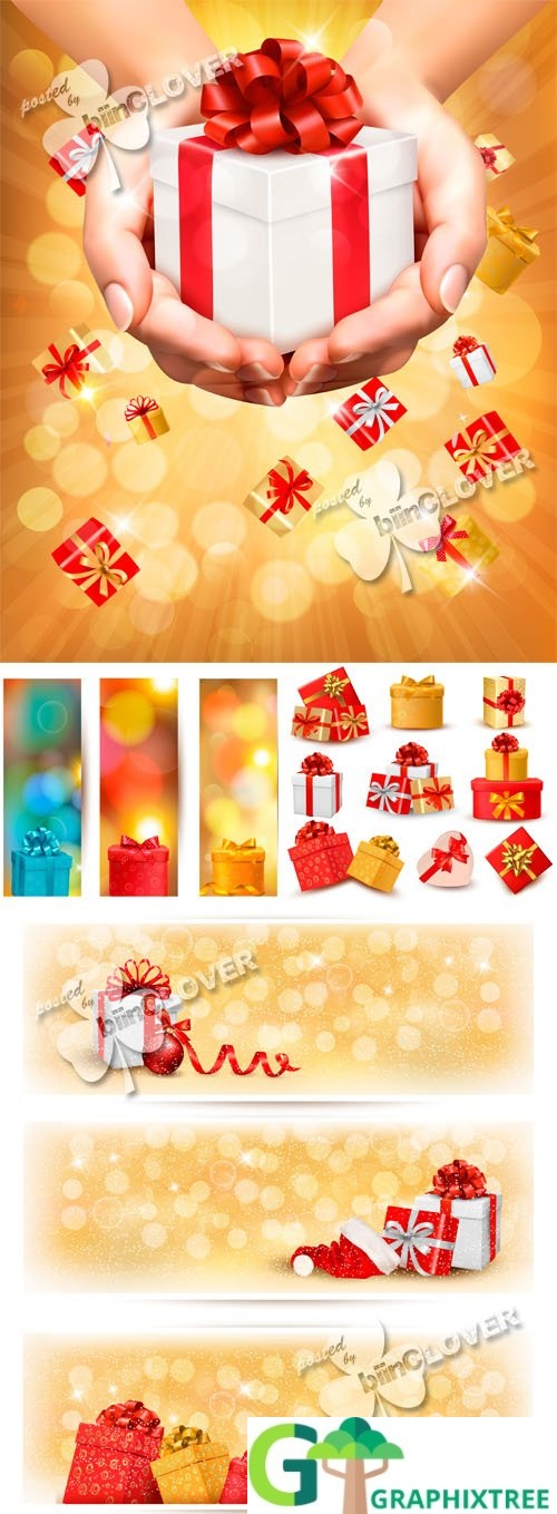 Vector Gift boxes concept 0521