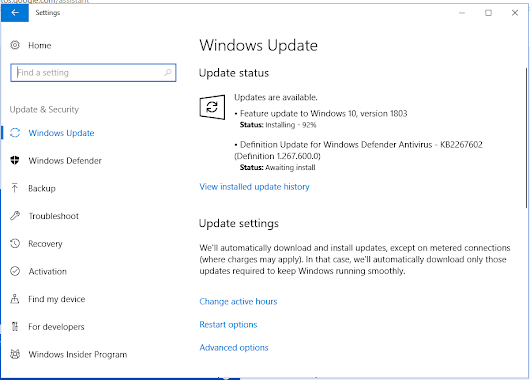 Cập Nhập Windows 10 April 2018 Update Version 1803 Build 17134.1