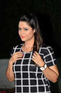 Shilpa Chakravarthy in Dark blue short tight dress At Srivalli Movie Pre Release Event ~ Exclusive Celebrities Galleries 028