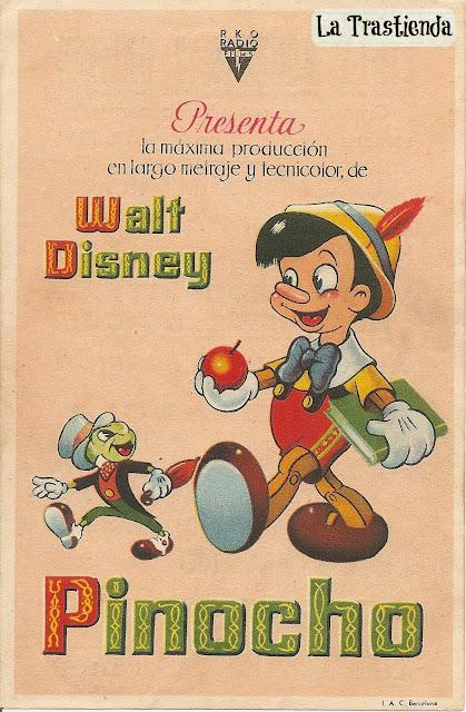 Programa de mano - Pinocho - Walt Disney (1940)