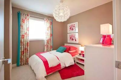 dekorasi kamar tidur gadis warna pink