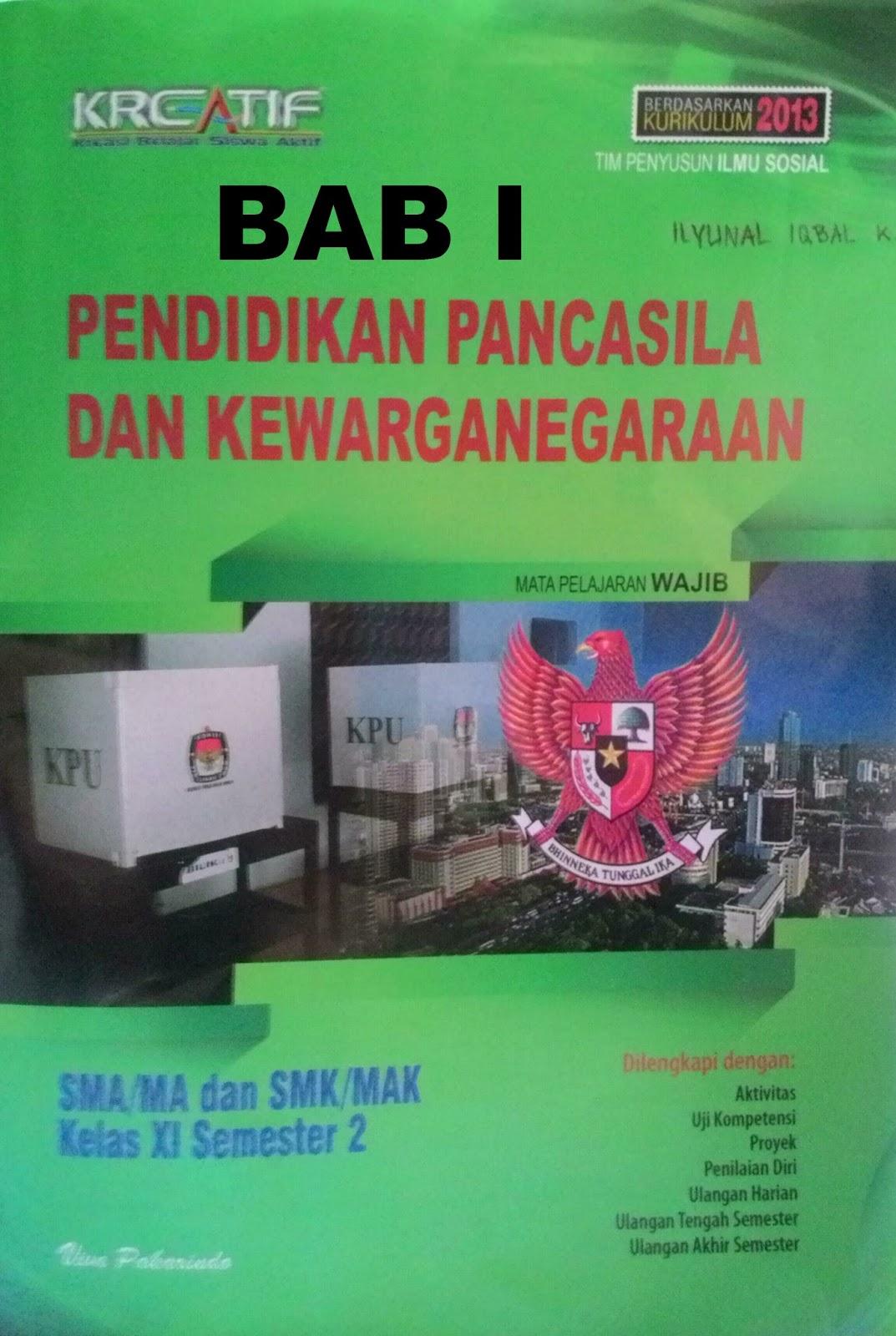Kunci Jawaban LKS PKN kelas 11 Semester 2 Bab 1 ...