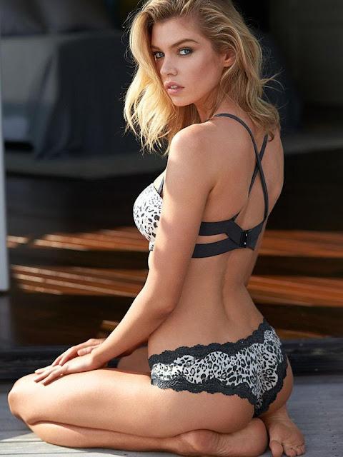 Hot girls Stella Maxwell sexy bra model 6.5ft 10