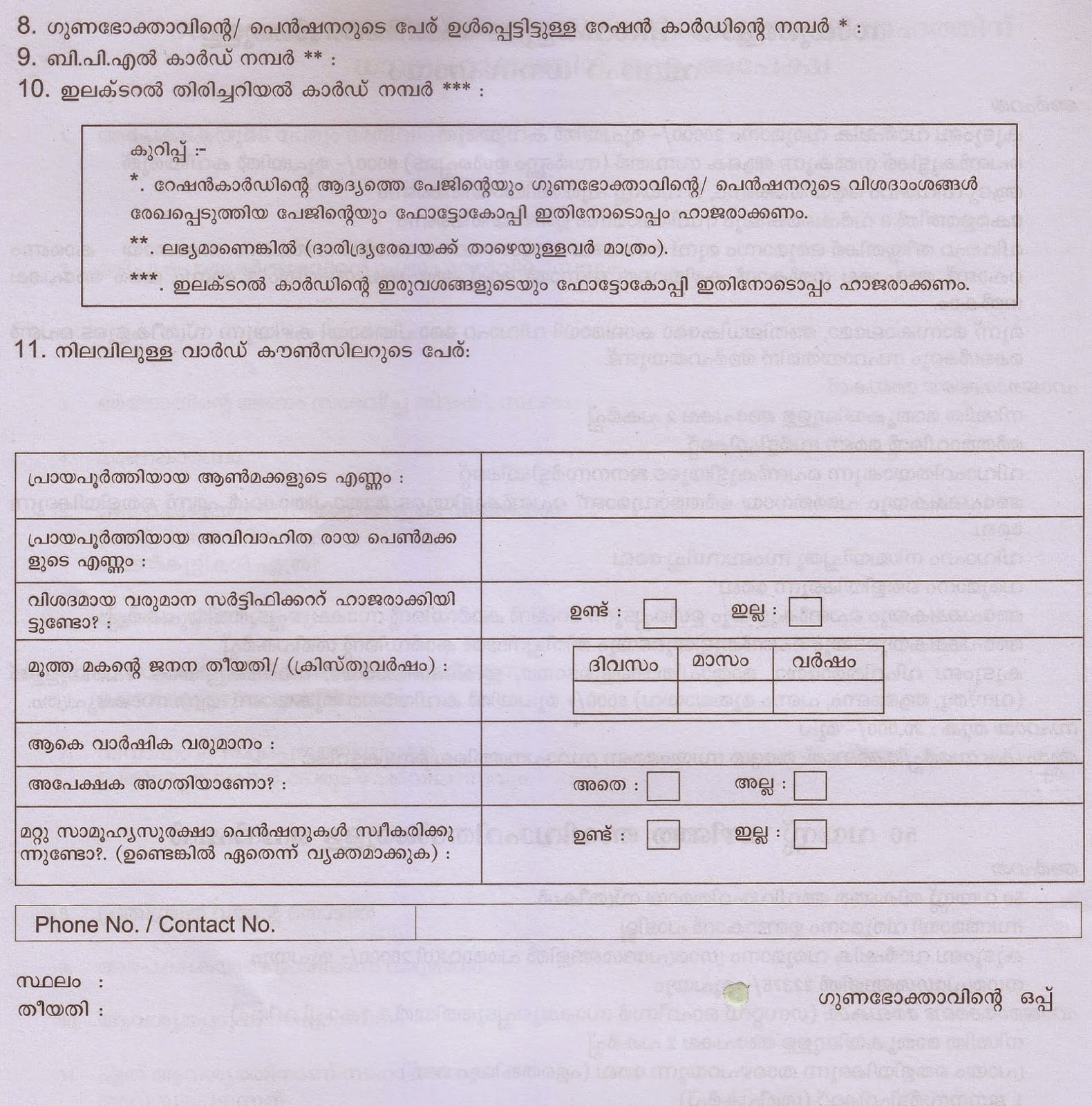 Government Application Forms Vidhva Pension Application Form