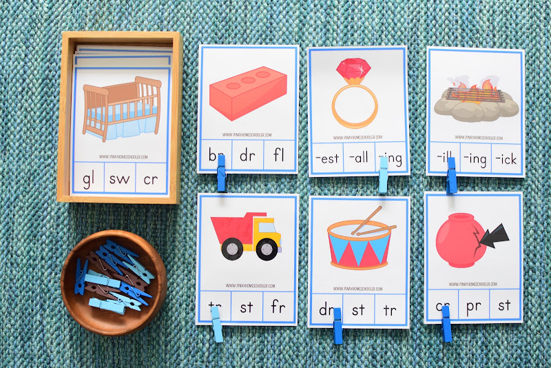 Blues Series Activity: Blends and Digraphs Clipcards