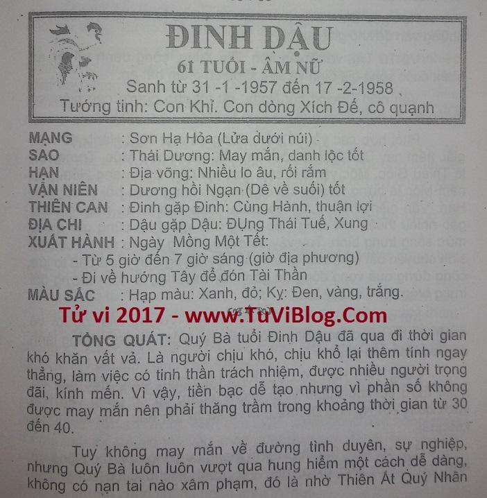 Dinh Dau 2017 nu