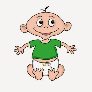 Funny baby boy clipart