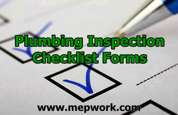 Plumbing Inspection Checklist Forms - Free Download