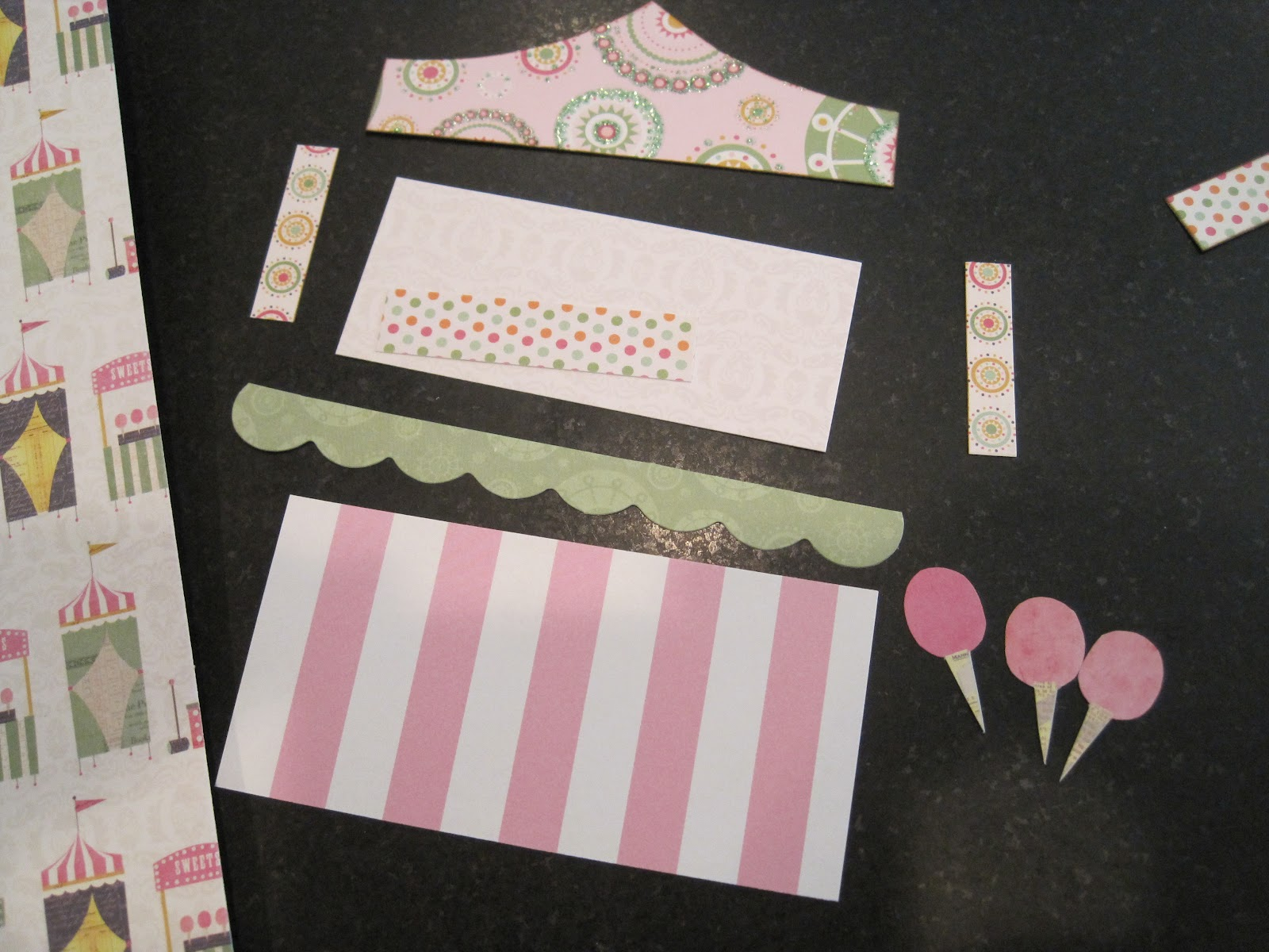 I Wanted The Front To Be A Carnival Booth That Would Open Up In Middle Started By Cutting Out All Shapes For