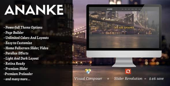 One Page Parallax WordPress Theme Free Download Ananke v3.6.8 – One Page Parallax WordPress Theme Download