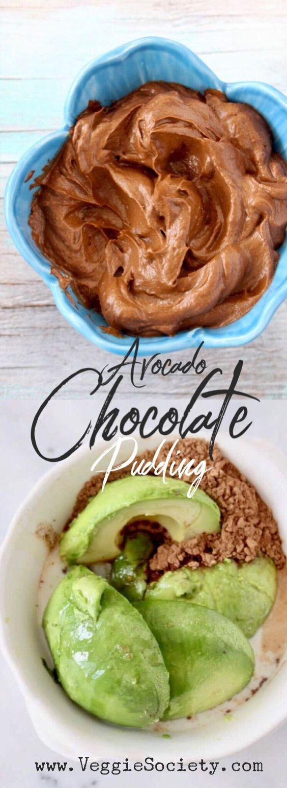 Raw Chocolate Avocado Pudding