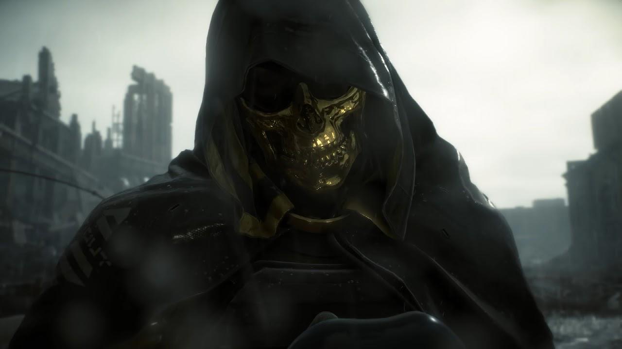 Iphone Wallpaper Skull Death Stranding Higgs Gold Skull Mask 4k 46 Wallpaper