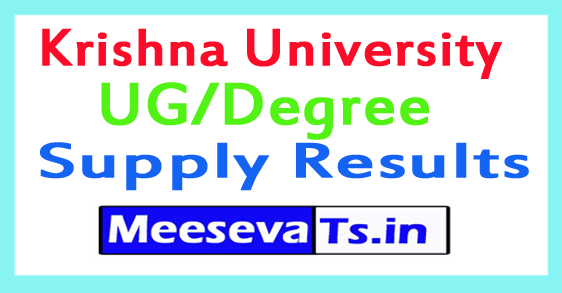 Krishna University UG/Degree Supply Results 2017