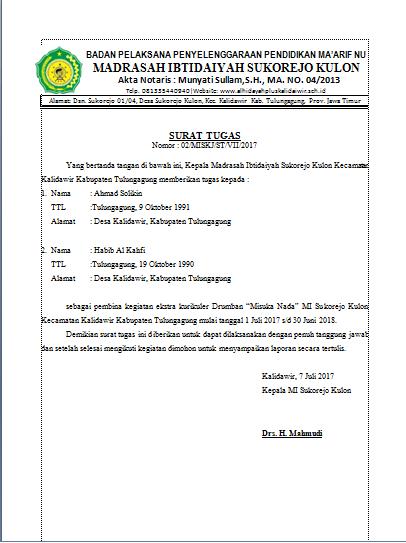 89 Info Contoh Surat Tugas Yayasan Doc Pdf Zip Download
