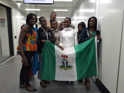 Girls from Regina Pacis representing Africa and Nigeria at The Global Technovation Challenge in Silicon Valley Won Gold Award (First)