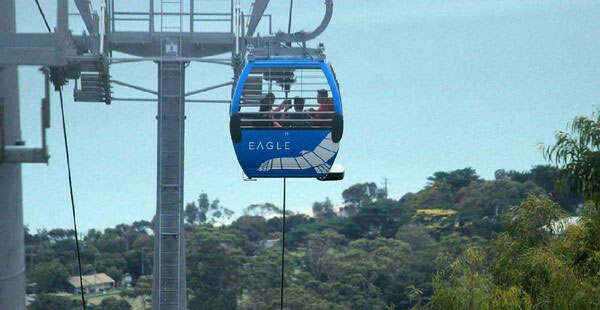 The Cable Car of Eagle Ride to see Mornington Peninsula and Port Phillip Bay