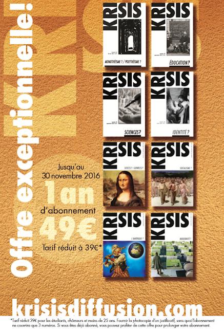 S'abonner à la revue Krisis sur Krisis Diffusion